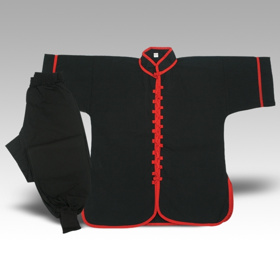 Kungfu /Wu shu uniform Black /Red piping